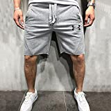 Shorts Pantalones Cortos Hombres Pantalones Cortos Sólidos para Hombre Pantalones Cortos Sueltos para Hombre Fitness Bodybuilding Jogger Marca para Hombre Pantalones De Chándal Duraderos Fitness