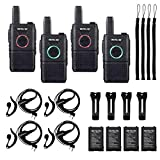 Retevis RT18 Walkie Talkies Rechargeable Adults,Mini 2 Way Radio with Earpiece Headset,Portable FRS...