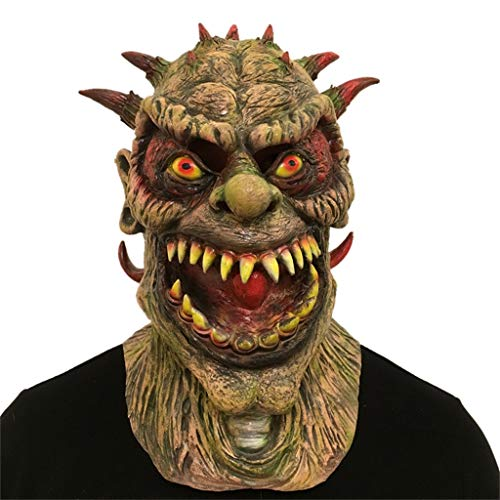 BEECM Head Mask Halloween Breathable Cosplay Scary Emulsion Mask Costume For Adults Party Decoration Props