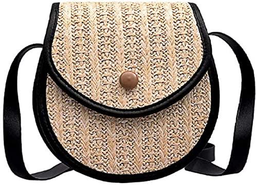 Nuevos bolsos cuadrados de paja para mujer, bolso de ratán de verano para mujer, bolso cruzado de playa tejido a mano para mujer, bolso bohemio-2-2