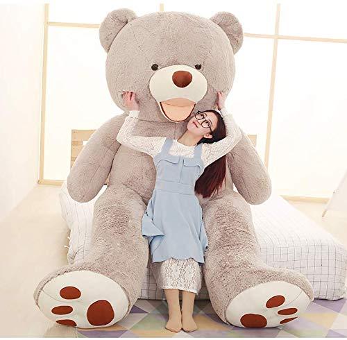 Orsacchiotto Gigante XXL, Teddy Bear Orso Enorme Giocattolo Regalo Regalo Compleanno Natale Bambino Feste (Grigio, 160cm)