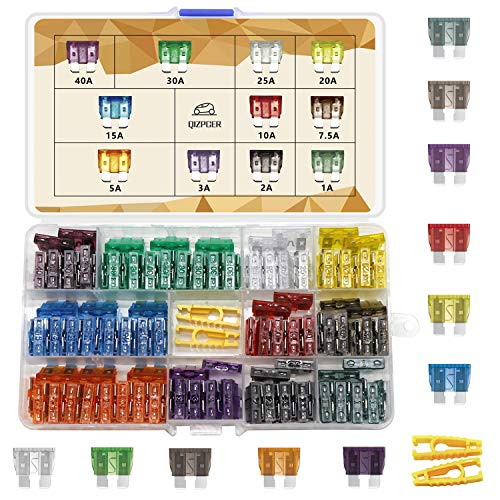 140 Pieces Fuses Automotive - Standard Blade Car Fuse Kit, Auto Fuse Assorted for Marine, RV, Camper, Boat, Truck (1A 2A 3A 5A 7.5A 10A 15A 20A 25A 30A 40AMP/ATC/ATO)