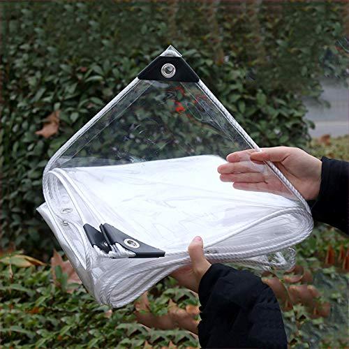 Lona Transparente Impermeable,Material de PVC Lona Alquitranada para Prueba de Rasgaduras,Balcón Jardín Planta Madera Protección Contra El Frío,Invernaderos,365g/m²(1.8x5m/5.9x16.4ft)