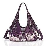 Purses and Handbags for Women Ladies'Shoulder Bag Designer Tie Dye Satchel Fashion Totes for Gril (11282Z purple)