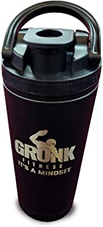 Ice Shaker Gronk Fitness Edition - Black w/Removable Agitator Water Bottle