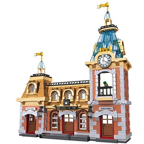 XDLH 1046Pcs Anime Playground Fantasy Ticket Office Modelo Moc Ticket Office City House Street View Townhouse Tienda Tienda Modular Edificio Conjunto