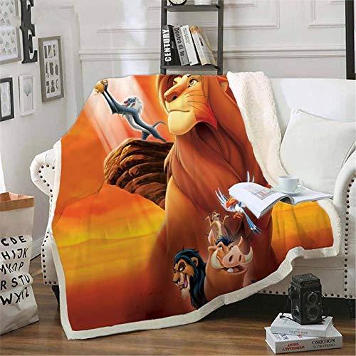 ANHHWW Cama de bebé manta de franela para carrito 70x135cm Dibujos animados, animal, tigre, toro Manta de franela para bebé...