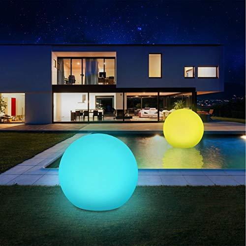 Solarlampen für außen 2 Pack, infray Solarleuchten für außen, Solar Gartenleuchten 30cm Solarkugel mit 9 Modi Leuchte, IP67 Wasserdicht LED Solarleuchten [Energieklasse A+++]