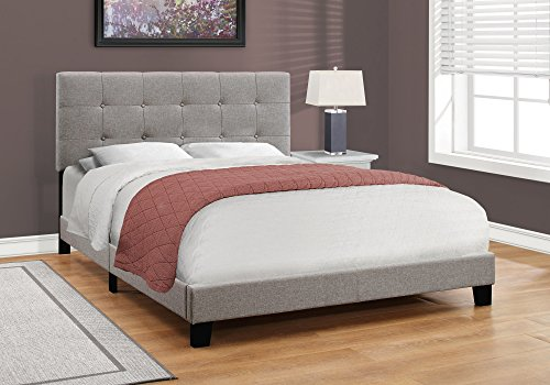 Monarch Specialties Bed Frames Queen Beige