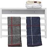 Montado en la pared Carril de toalla de baño estante de la esquina riegan la cesta del almacenaje del hogar Estantes toallero eléctrico - de pared calentador de baño de almacenamiento en rack de secad