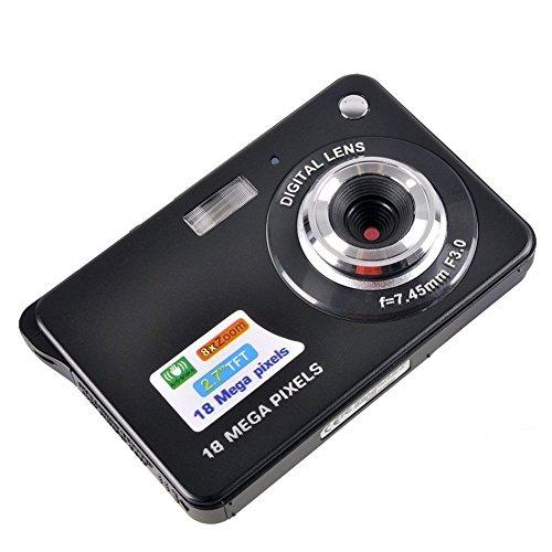 Fitiger 2.7 Inch 18MP TFT LCD HD Micro Mini Digital Camera,Smile Capture,Anti-Shake