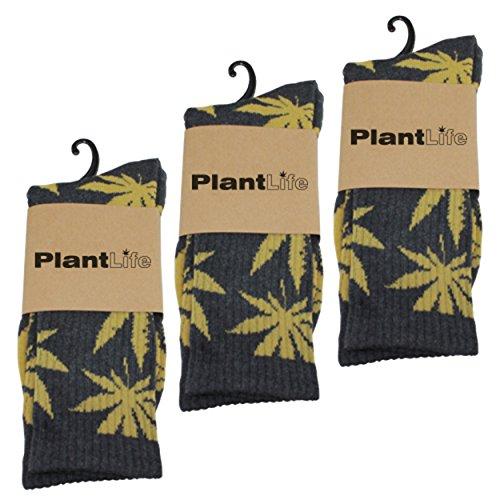 Plantlife® Socken Hanf Socks in universeller Größe, Unisex Farbe grau/gelb