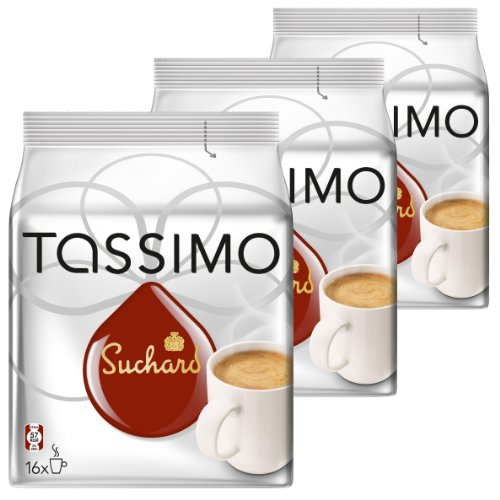 Tassimo Suchard Kakao-Spezialität, Schokolade, Kapsel, 3 x 16 T-Discs