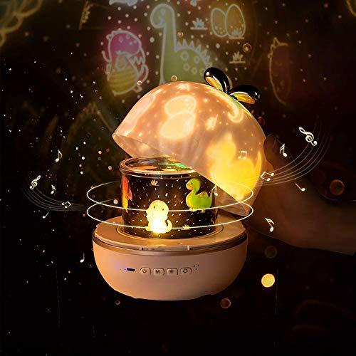 LJJ Lámpara de Nocturna Infantiles, luz del Proyector 360 Grados Rotación, para Habitación Bebé, Dormitorio, Fiesta de Cumpleaños