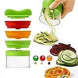 Top-Spring Vegetable Spiralizer,3 Blades Handheld Spiral Slicer Portable Vegetable Fruit Silicer Cutter Tool