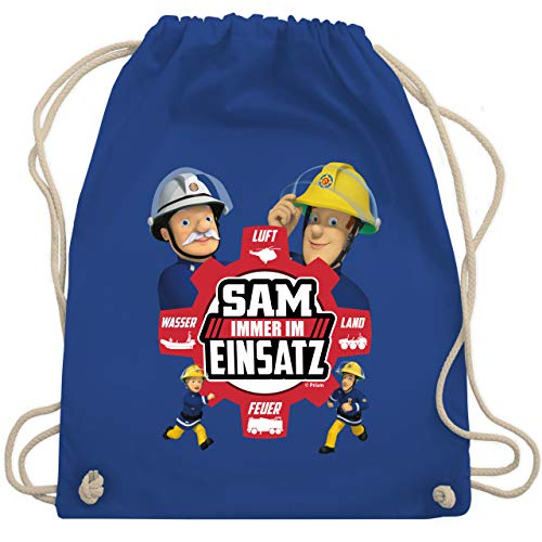 Shirtracer Feuerwehrmann Sam Tasche - Sam - Immer im Einsatz - rot - Unisize - Royalblau - Fun - WM110 - Turnbeutel und Stoffbeutel aus Baumwolle