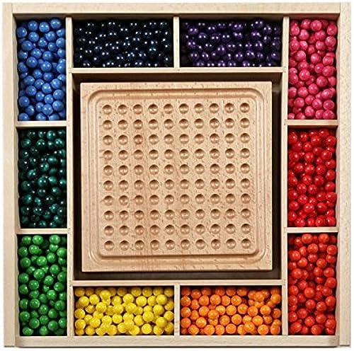 SINA Minikugelspiel Kindergarten Kugelspiel Holzkugeln Kreativ Muster NEU