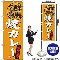 のぼり旗 焼カレー 群馬名物 SNB-3951 (受注生産)