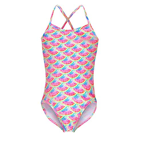 Mädchen Meerjungfrau Badeanzug Einhorn Regenbogen Print Badeanzug für Kinder Einteiler Hawaiian Pool Beach Tankini Bademode