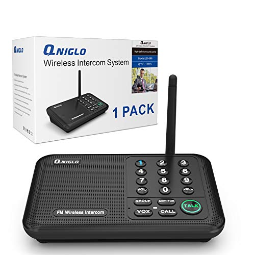 QNIGLO Intercoms, Wireless Intercom System for Home, Long Range House Intercom System for Office, Two Way Wireless Intercom Systems for Business,1 Pack