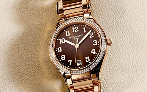 Patek Philippe Twenty4 Rose Gold 7300-1200R-001 with Brown Sunburst dial