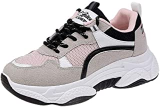HXSD Casual Fashion Sneakers, Versatile Casual Shoes, Street Beats, Breathable Old Shoes, Comfortable, Wearable (Color : Pink, Size : 39EU)