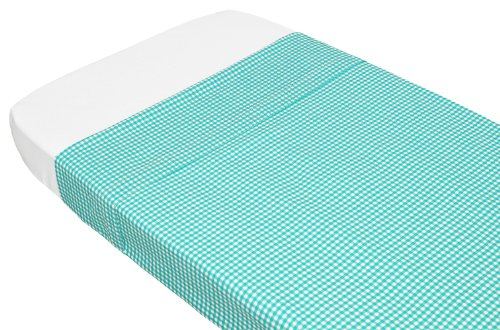 TAFTAN Checks 3 mm Top hoeslaken 100 x 80 cm turquoise