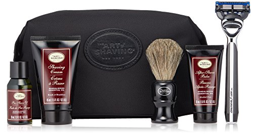 Price comparison product image The Art of Shaving Travel Shaving Kit for Men - Morris Park Mens Razor with Shaving Cream,  Shaving Brush,  After Shave Balm,  & Pre Shave Oil,  Sandalwood