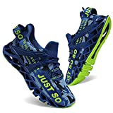 UMYOGO Sport Running Shoes for Mens Mesh Breathable Trail Runners Fashion Sneakers Blue