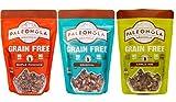 Paleonola Grain Free Gluten Free Granola 3 Flavor Variety Bundle: (1) Paleonola Original Granola, (1) Paleonola Apple Pie Granola, and (1) Paleonola Maple Pancake Granola, 10 Oz. Ea. (3 Bags Total)