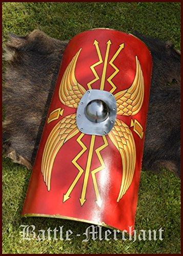Battle-Merchant Scutum der römischen Legionäre, Römerschild mit Umbo aus Stahl - Schild