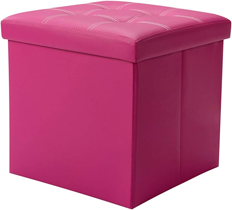 Creative Home Storage Stool PU Leather Waterproof Modern Living Room Sofa Bench Bedroom Fashion
