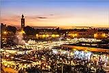 Poster 90 x 60 cm: Marrakesch, Marokko von Jan Schuler -