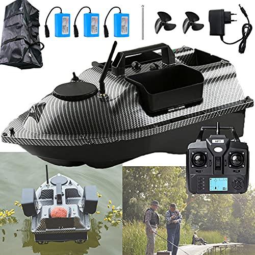 Barca Telecomandata Pesca Intelligente, Barchino Carpfishing con Crociera di Posizionamento GPS, Barca Esca con Elica di Ricambio e Batteria da 12000 mAh, Scafo Impermeabile