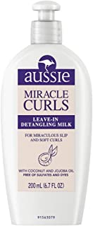 Aussie Leave-In Detangling Milk Miracle Curls 6.7 Ounce (200ml) (2 Pack)