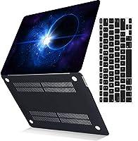 MSXUANプラスチック製のハード保護シェルカバーケース+USキーボードカバーは古いMacBook Pro 13インチのみに対応、CD-ROMなし、Retinaディスプレイ付き(2012-2015リリース)(モデル:A1425 A1502)、銀河 0199