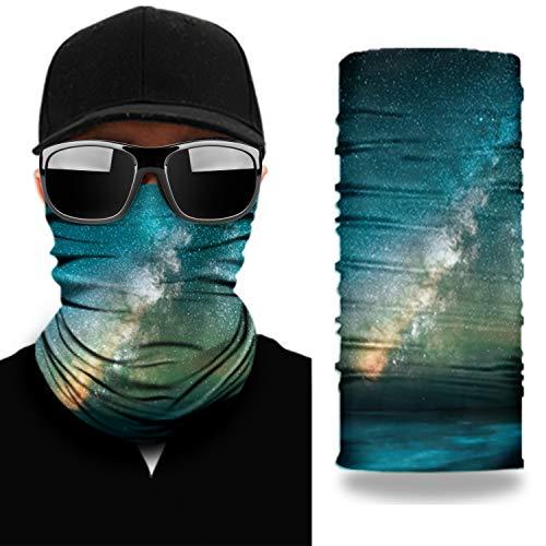 NoahNoel | Halstuch Multifunktionstuch für Damen und Herren Schlauchtuch Nahtlos Bandana Schal Gesichtsmaske für laufen Radfahren Motorradfahren (Grün)