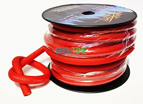 Sky High Car Audio 50' Foot RED 1/0 AWG Gauge OFC Power/Ground Wire/Cable SHCA