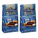 Ghirardelli Dark & Sea Salt Caramel Chocolate Squares, 5.32 oz - Pack of 2