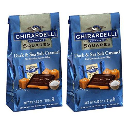 Ghirardelli Dark amp Sea Salt Caramel Chocolate Squares 532 oz  Pack of 2