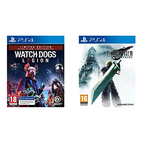 Watch Dogs Legion - Limited [Esclusiva Amazon] - PlayStation 4 & Final Fantasy VII Remake Standard PlayStation 4