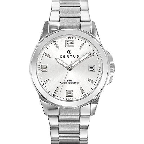 Certus Herren Analog Quarz Uhr mit Edelstahl Armband 616342
