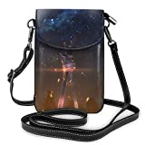 LNLN Monedero pequeño para teléfono Celular Anime Sword Art Online Lightweight Small Crossbody Bags Leather Cell Phone Purses Travel Pouch Shoulder Bag Wallet with Credit Card Slots for Women