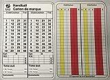 b+d Carte d'arbitrage handball 100 pièce, français