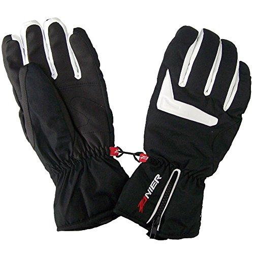 Zanier Ski Handschuhe für Herren mit Wasser und Winddichter Membran, Größe:M, Farbe:Weiss