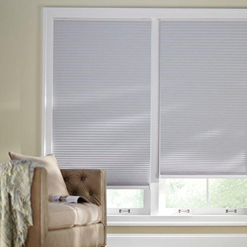 Shadow White 9/16 in. Cordless Blackout Cellular Shade - 60 in. W x 48 in. L