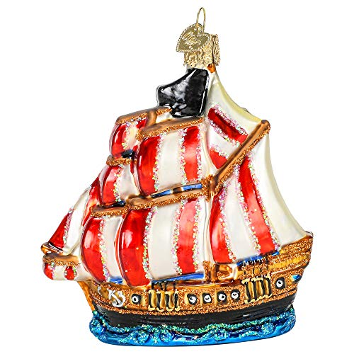 Old World Christmas Pirate Ship Ornament