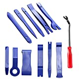 Auto Trim Removal Tool, 12Pcs Car Panel Removal Tool Interior Trim Kit Fastener Rivet Remover Plastic Pry Tool for Automotive Radio Stereo Dash, Upholstery Tool