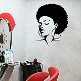JHGJHGF Adesivi murali Decorazioni per la casa Camera da Letto Parrucchiere Adesivi murali in Vinile Adesivi per finestre Salone di Bellezza Parrucchiere Barbiere