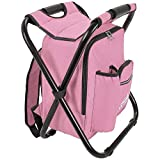 Outrav Backpack Cooler and Stool - Collapsible Folding Camping Chair and Insulated Cooler Bag with...